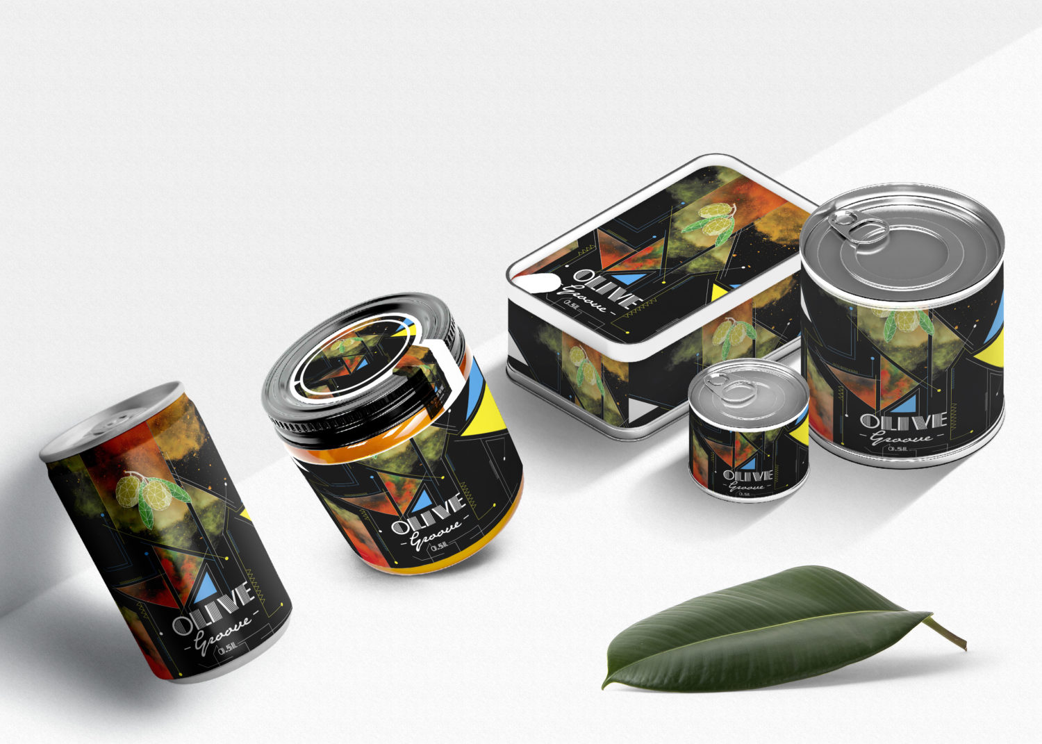 New Steel Can Product Design Mockup