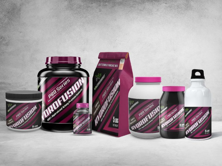 Plastic Supplement Scenes Packaging Mockup
