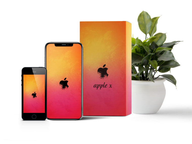 Apple Mobile Box Packaging Mockup