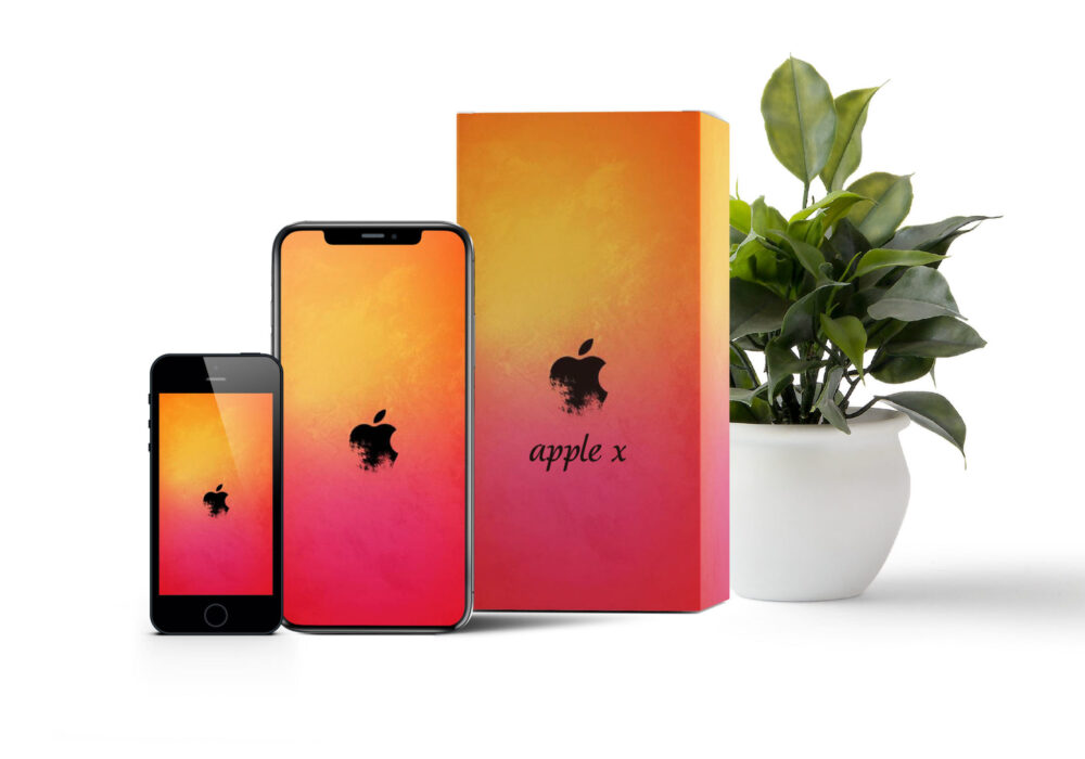 Apple Box Packaging Mockup