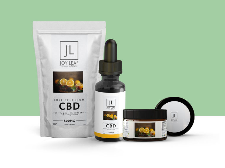 CBD Amber Dropper Full Packaging Mockup