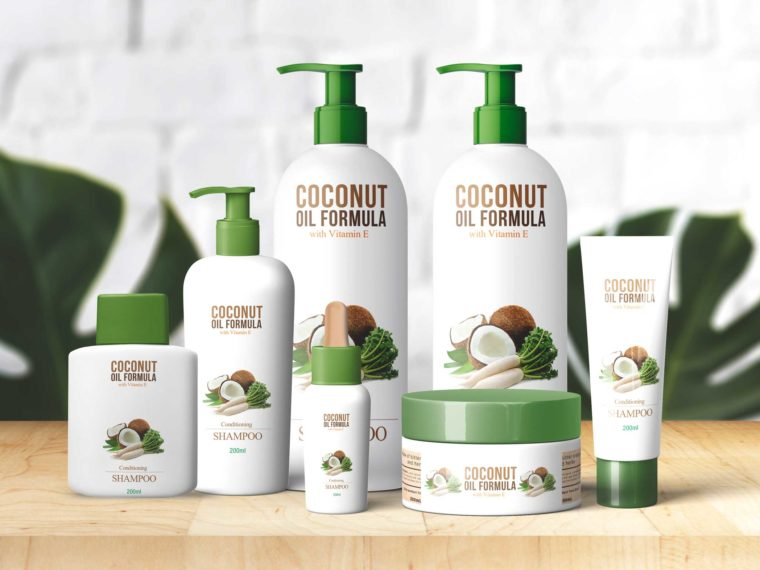 Coconut Spa Product Bottle Mockup