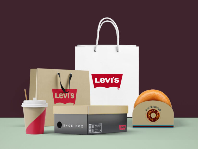 Levi's Bag Packaging Mockup