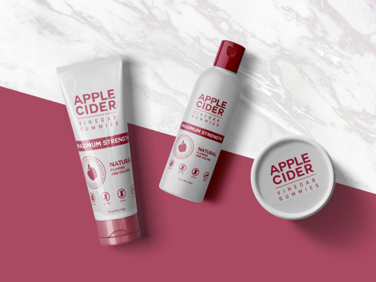 Red Apple Cosmetic Product Mockup