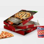 Delicious Pizza Box Packaging Mockup