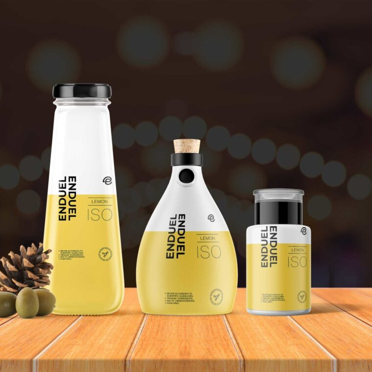 Lemon Oil Bottle Combo Mockup