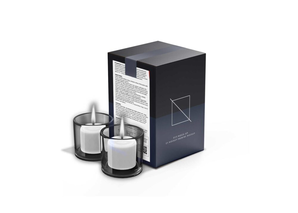 Candle Box Packaging Mockup