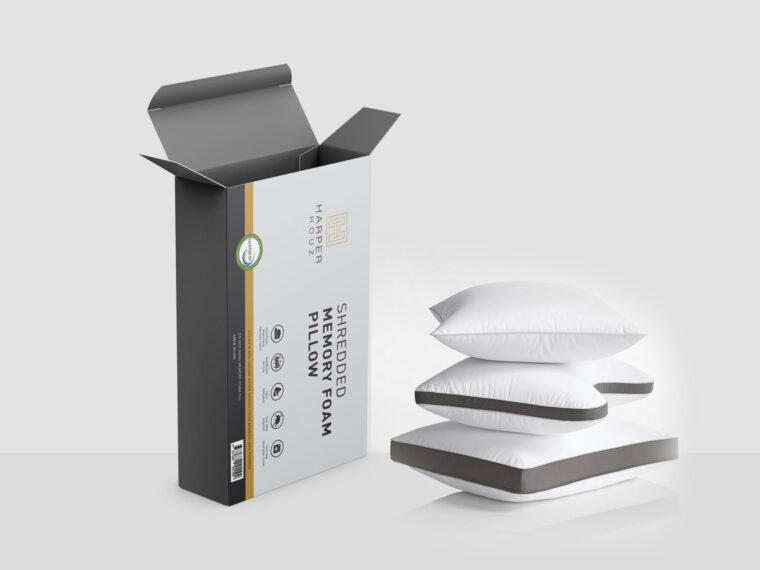 Form Pillow Packaging Mockup