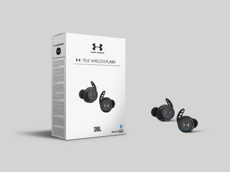 JBL Under True Wireless Box Packaging Mockup
