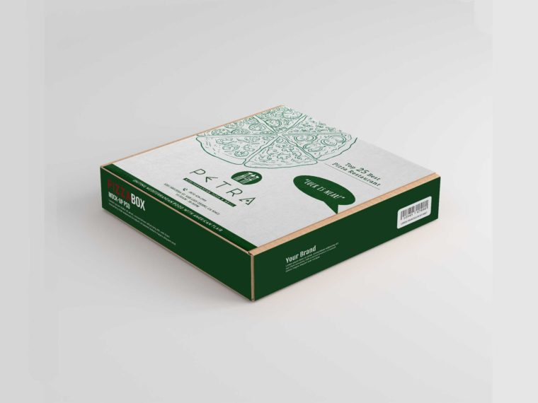 New Pizza Box Label Mockup