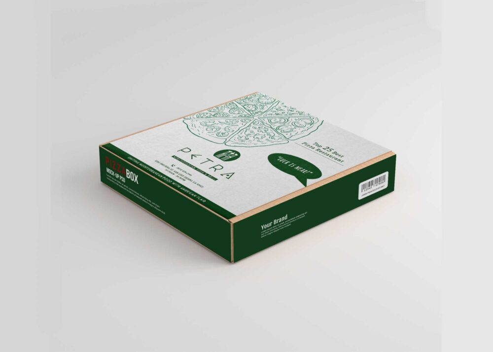 Pizza Box Label Mockup