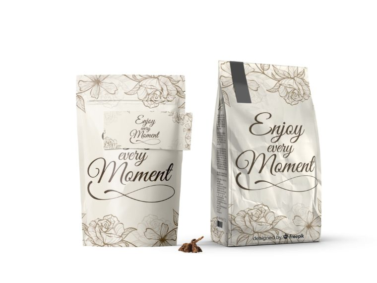 Enjoy the Moment Stand Packet Mockup