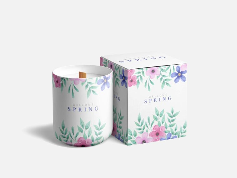 Modern Candle Packaging Mockup