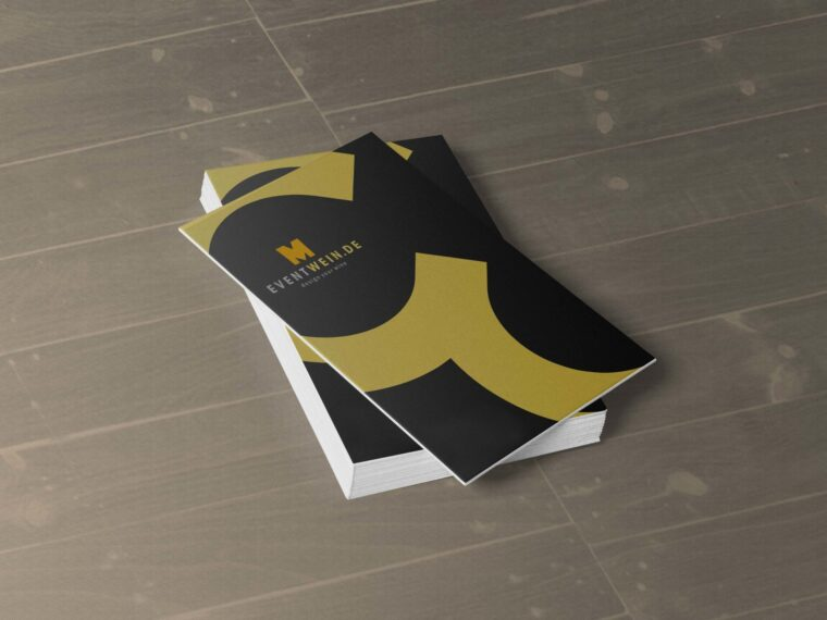 New Business Card Presentation Mockup