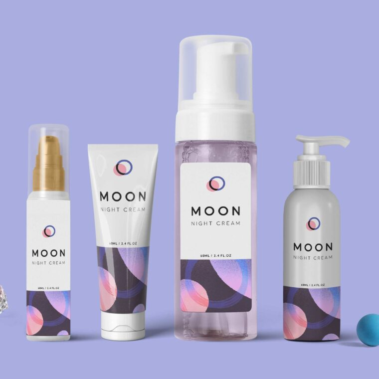 Skin Care Label Packaging Mockup