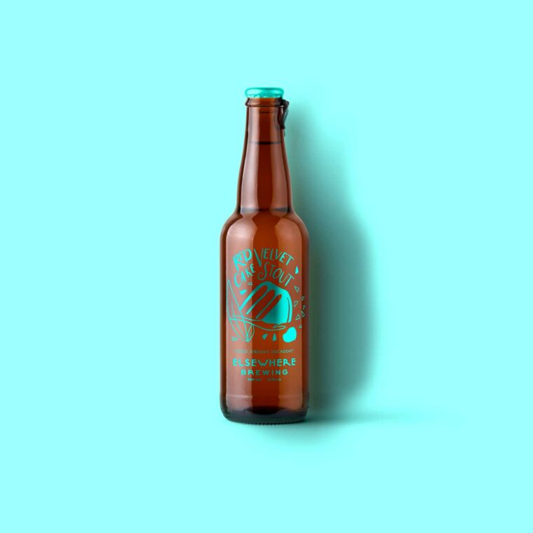 Brown Beer Bottle Scene Mockup