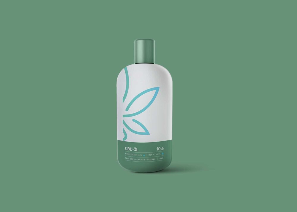 CBD Hair Shampoo Bottle Mockup