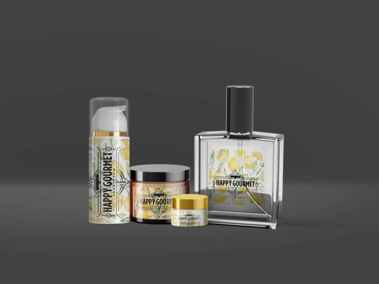 Cosmetic Hair Care Products Mockup