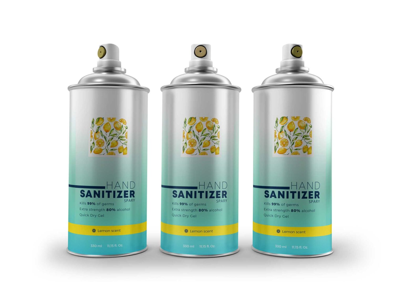 Sanitizer Air Spray Mockup