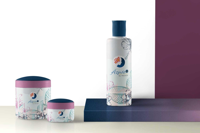Shower Gel Product Packaging Mockup