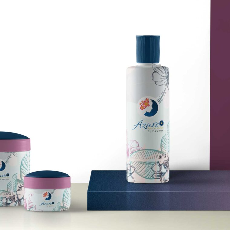 Shower Gel Product Packaging Mockup