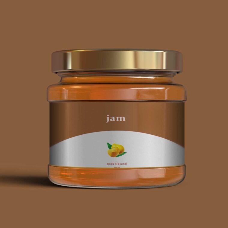 Small Honey Jar Collection Label Mockup