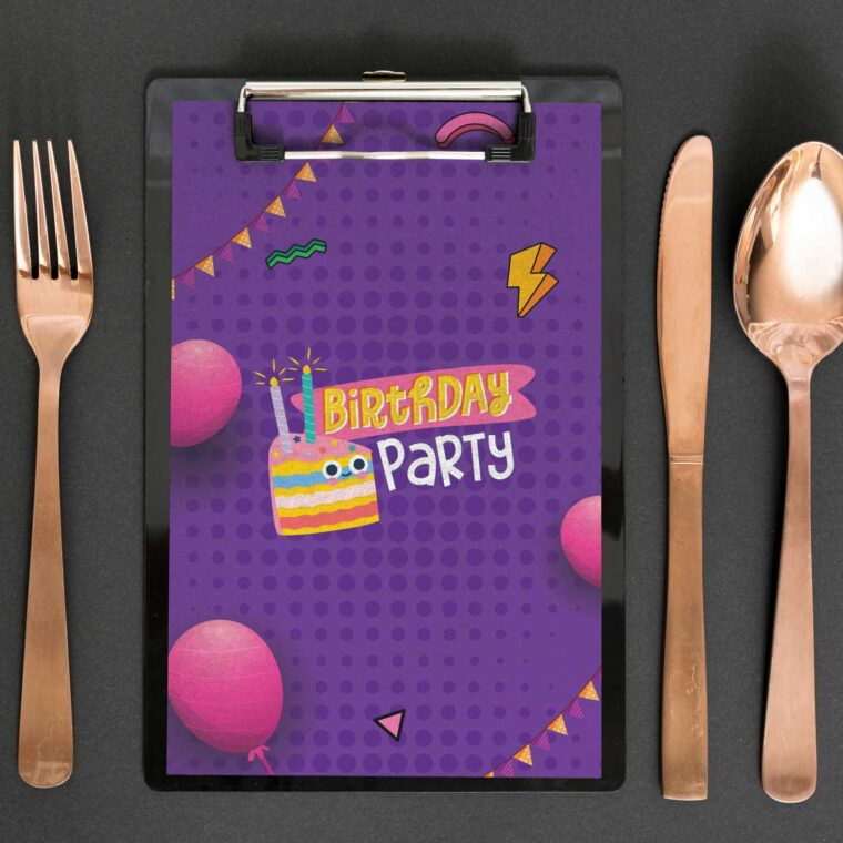 Children Party Menu Designs Templates