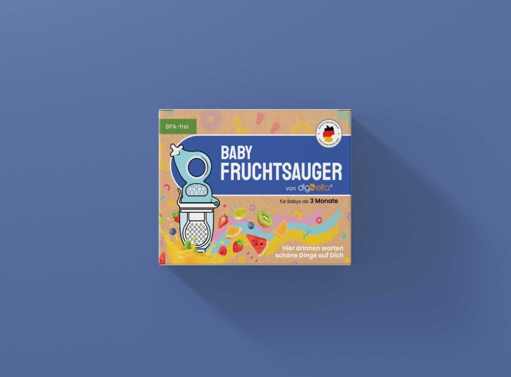 Baby Pacifier Packaging Box Mockup