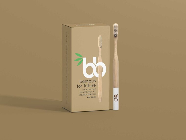 Bamboo Toothbrush Packaging Mockup
