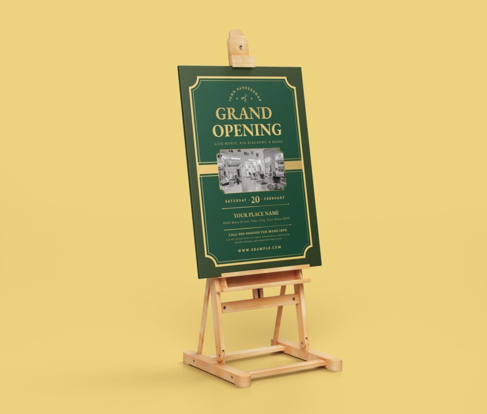 Opening Poster Design Template