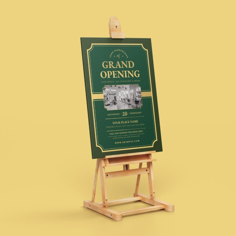 Grand Opening Poster Design Template