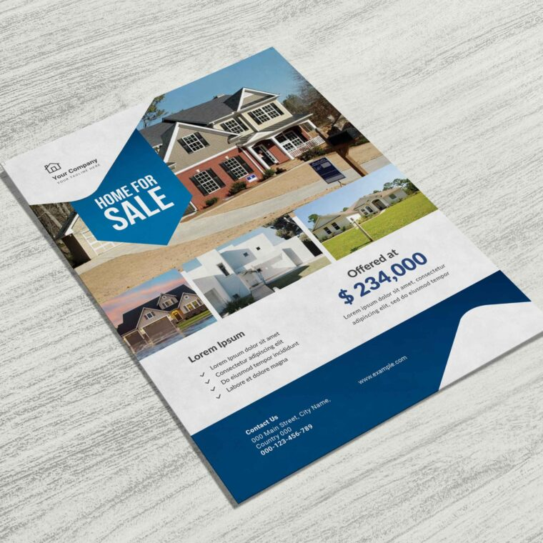 Beautiful Property House Sale Flyer Template
