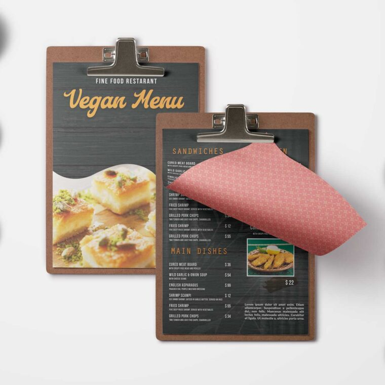 Vegan Menu Design