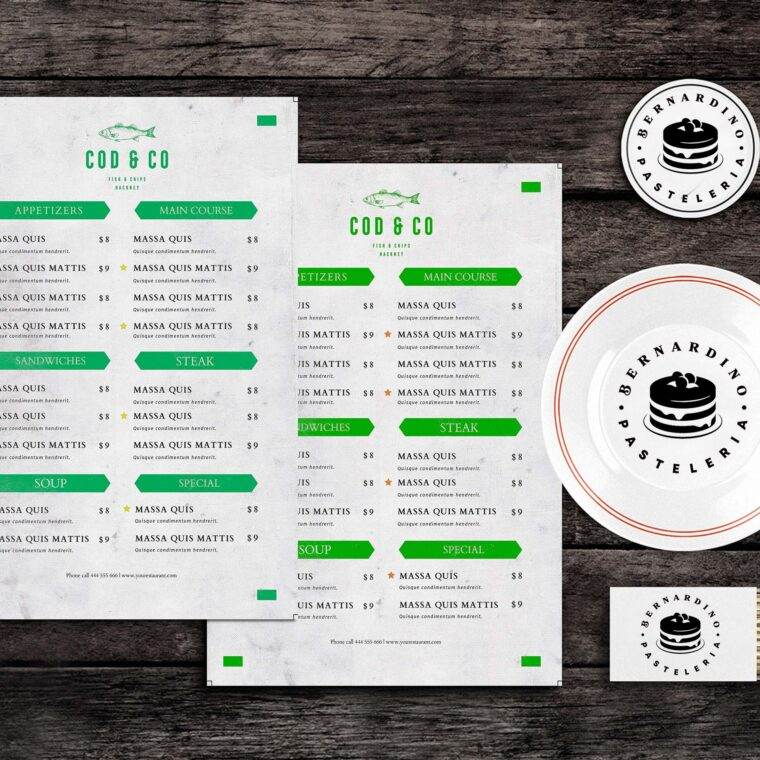 Brownie Bites Food Menu Template