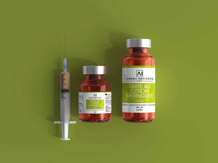 COVID-19 Coronavirus Vaccine Injection Bottle Mockup