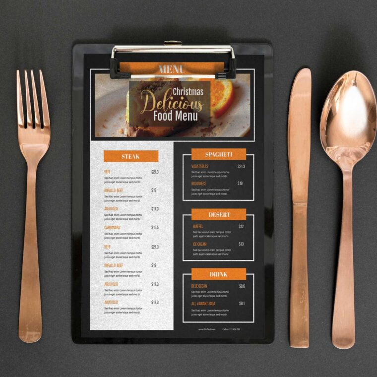 Gingerbread Menu Design Template