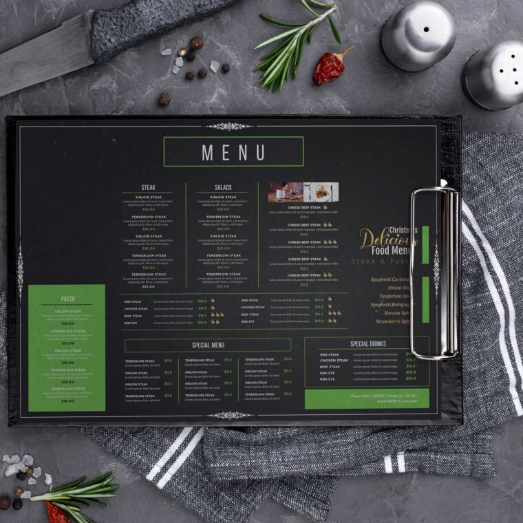 Delicacies Food Menu Design Template