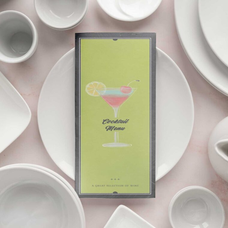 Cocktail Party Menu Design