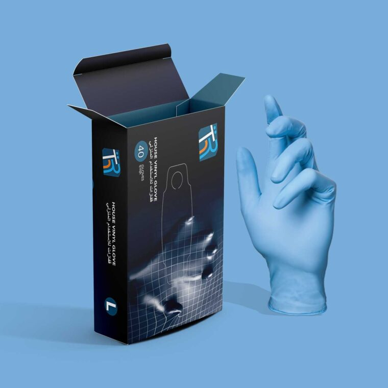 Coronavirus Safety Gloves Packaging Mockup