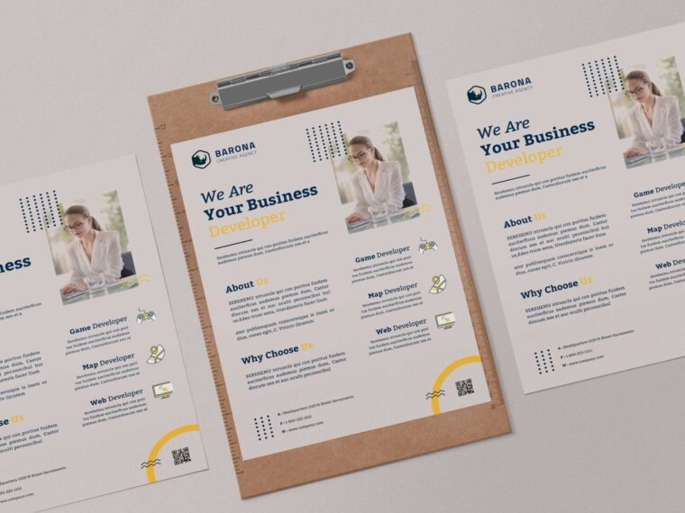 Business Flyer PSD Template 2021