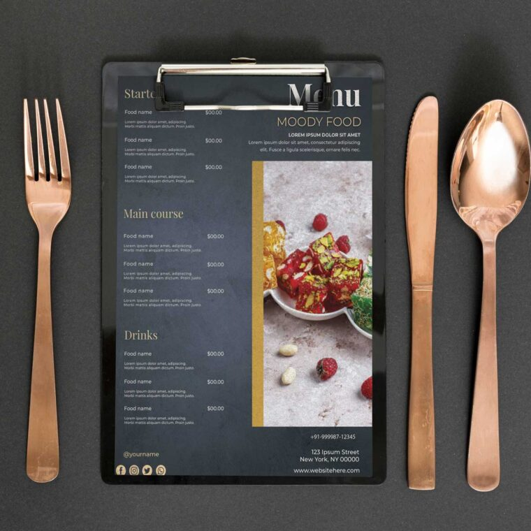 Italian Menu Design Template