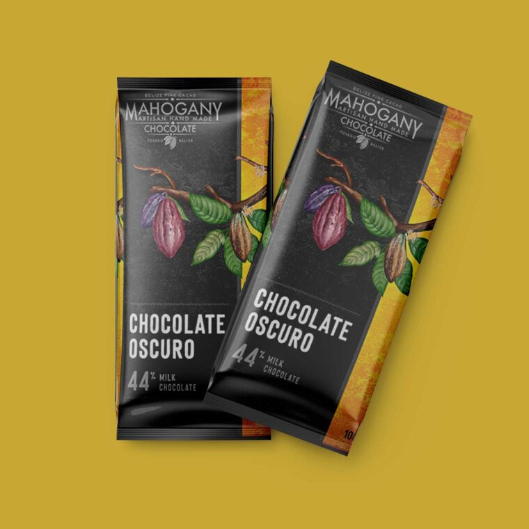 Dark Chocolate Label Mockup