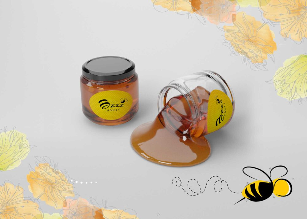Delicious Liquid Honey Jar Mockup