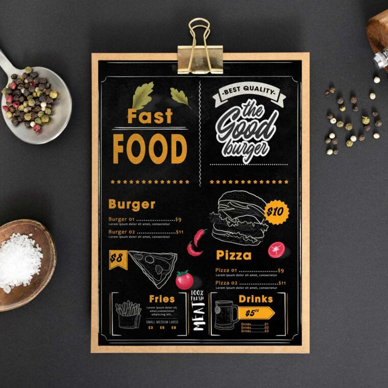 Fast Food Menu Design Template