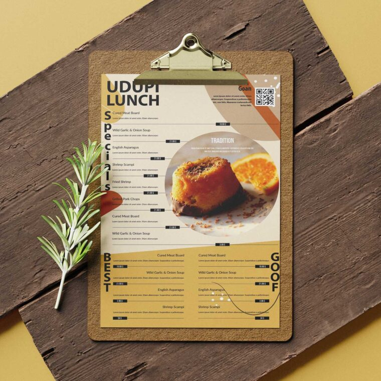Restaurant Poster Tabloid Menu Design