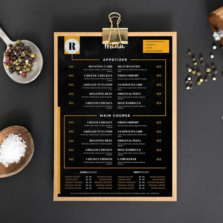 Chicken Menu Design Template