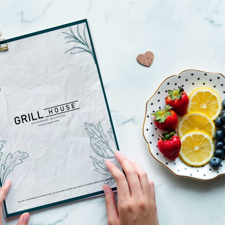 White Grill Restaurants Menu Design