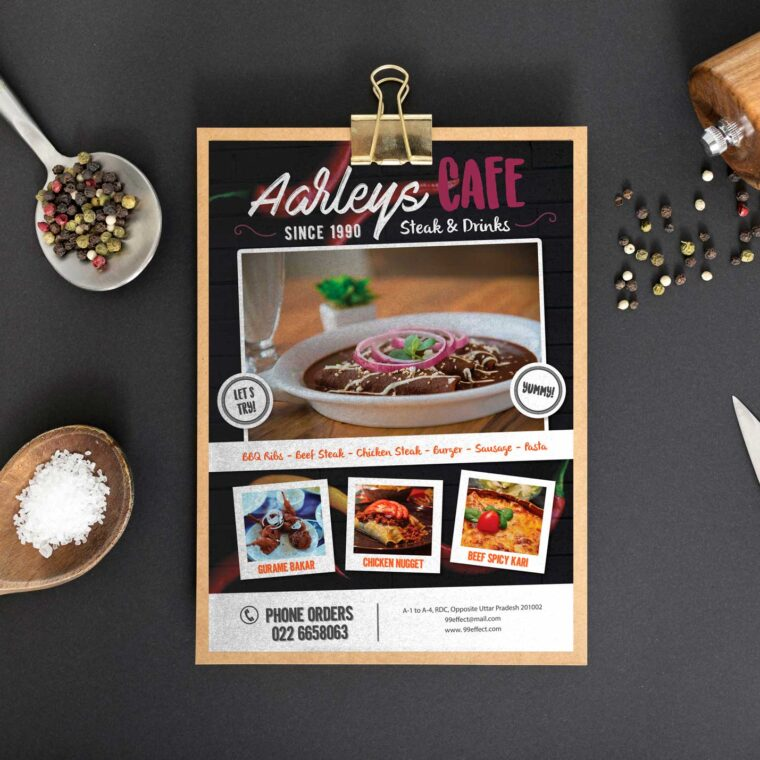 Royal Café Menu Design Template
