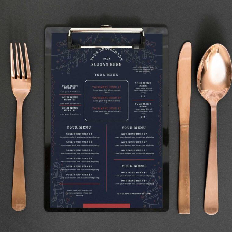 Royal Restaurant Menu Design Template
