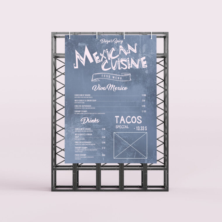 Mexican Cuisine Food Menu Template